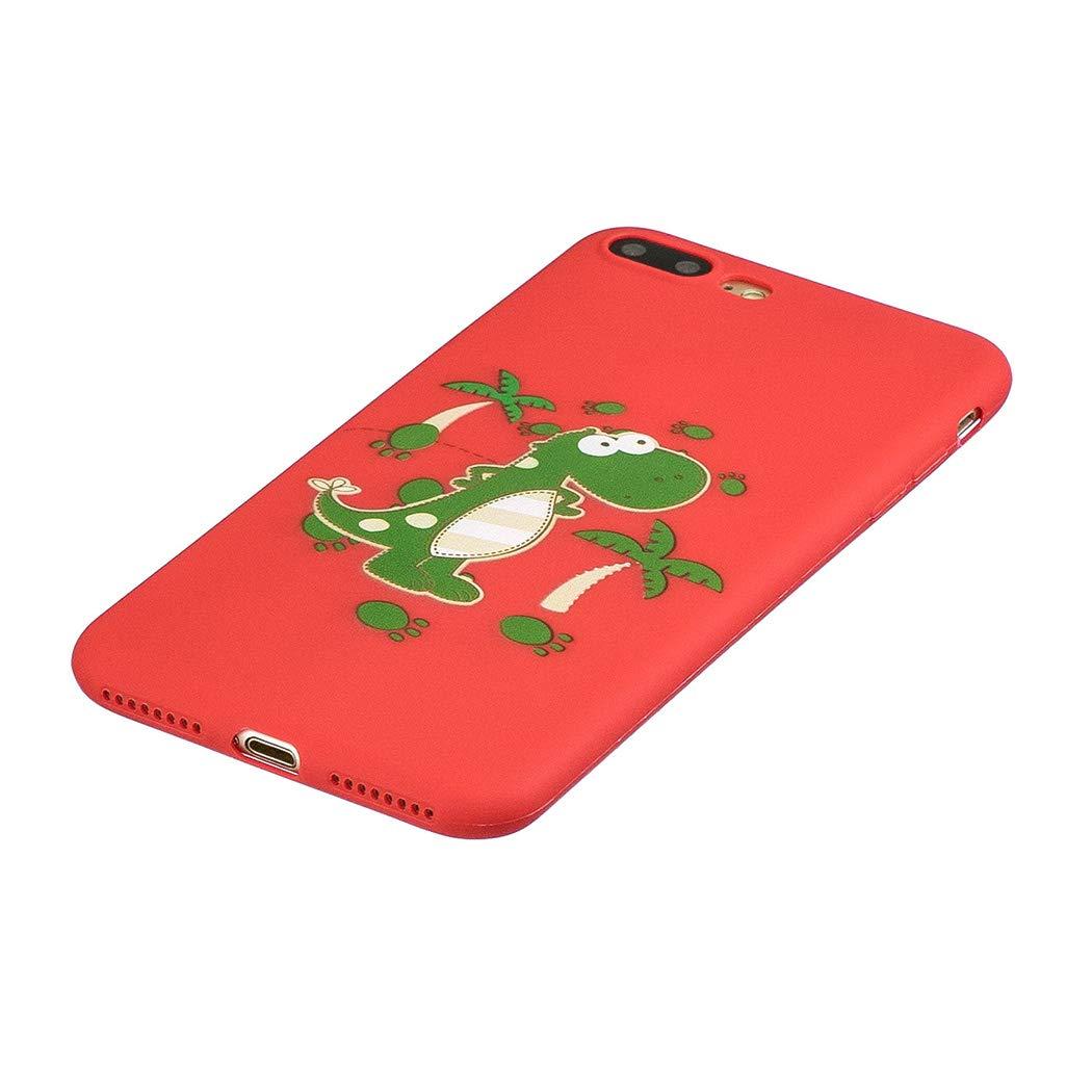 EuCase Funda iPhone 8 Plus Silicona Dibujos Carcasa iPhone 7 Plus Antigolpes Suave TPU Flexible Goma Ultra Delgada Ultrafina Goma Cubierta Protector Bumper Case para Caja Tapa Carcasa Cerdo