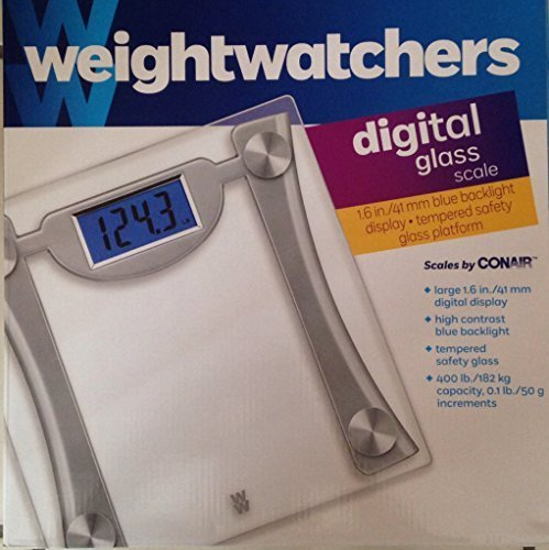 Weight Watchers Digital Glass Scale by Conair (curved support)