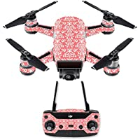 Skin for DJI Spark Mini Drone Combo - Coral Damask| MightySkins Protective, Durable, and Unique Vinyl Decal wrap cover | Easy To Apply, Remove, and Change Styles | Made in the USA