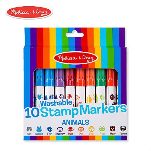 Melissa & Doug 10 Washable Stamp Markers - Animals