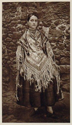 1925 Alberca Spain Traje Festivo Costume Dress Woman - Original Photogravure (Festive Costume)