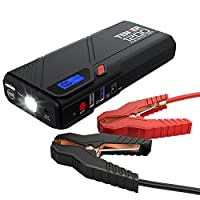 TENKER 1200A Peak Portable Car Jump Starter (for 6.5L gas/5.2L diesel engines), Battery Booster, QC 3.0 Phone Charger with Built-in LED Emergency Flashlight