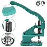 Perfect Grommet Machine 3 Die Making and 1500 Eyelet Hand Press Tool Banner 9.96 Lb - Beginner & Professionals   Multi Purpose Practical & Essential Equipment for Dress Makers Arts Shops Manufactures