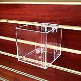 Azar Displays 256105  4-Inch Acrylic Cube Bin for