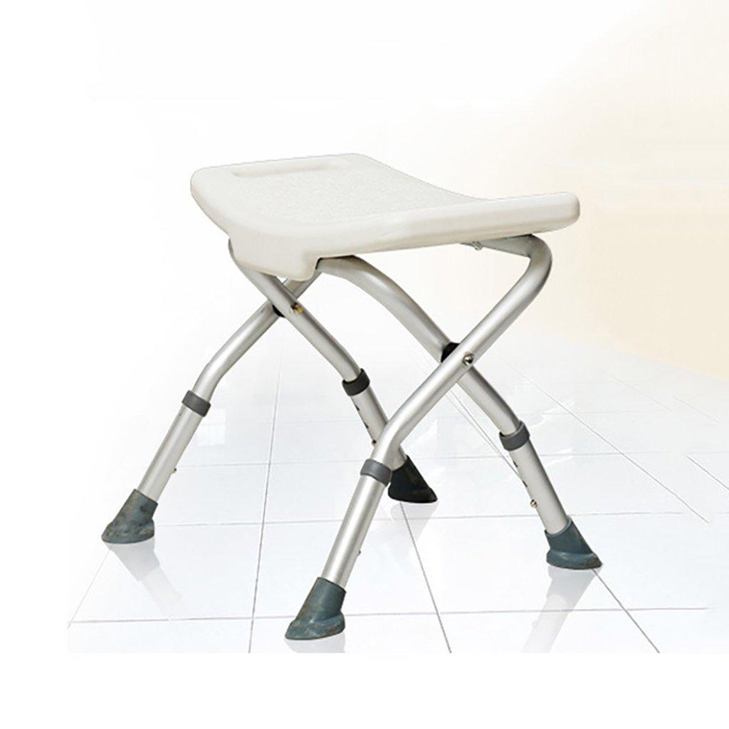 XUEPING 高齢者のシャワーのスツールの浴室のスツールのためのバスタブの椅子高齢者の折り畳みのスツールのバスルームのスツールの調節可能な高さの白のバスタブの椅子   B07D8XBJSH