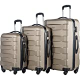 Merax MT Imagine TSA Luggage Set 3 Piece Spinner Suitcase