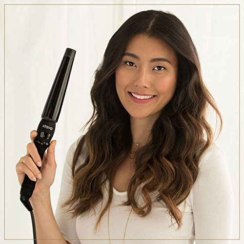 Xtava Twist Curl Curling Wand 1 To 1 5 Inch Professional