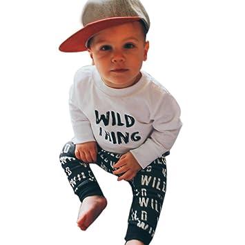 a70bd2c3 Amazon.com: FEITONG 2pcs Toddler Infant Baby Boy Clothes Set- Letter ...