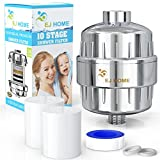 best soft water system - 10-Stage Shower Filter for Premium Body Care Experience - Give Your Hand Held or Rain Shower Head Filtered Water - Ideal Filter for Hard Water, Chlorine Fluoride - Includes 2 Water Filter Cartridges