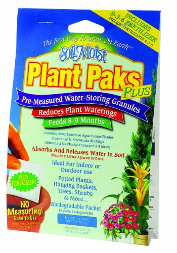 Soil Moist Water Reducing Plant Paks with Fertilizer 6pc