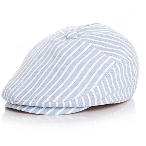 - Moon Kitty Baby Boys Cotton newsboy Cap Pinstripe Hat Driving Hat Golf Cap For Baby