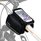 """ArcEnCiel Mountain Road Bike Bag Touchscreen Bicycle Pack Double Pouch Cycling Front Frame Tube Bag Pannier For ≤ 5.7"""" Phone"""