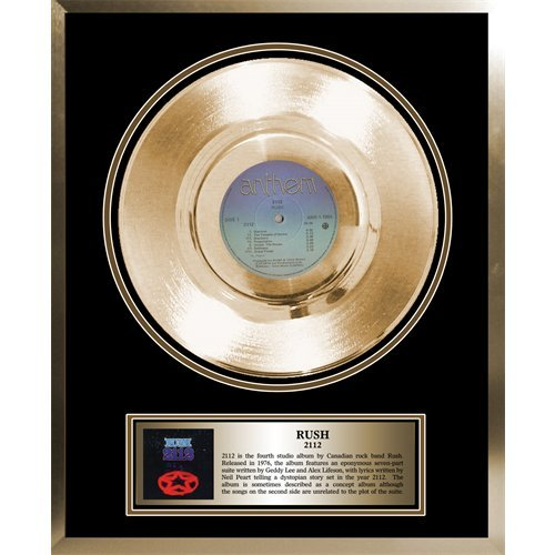 (Rush Framed Gold Album 2112)