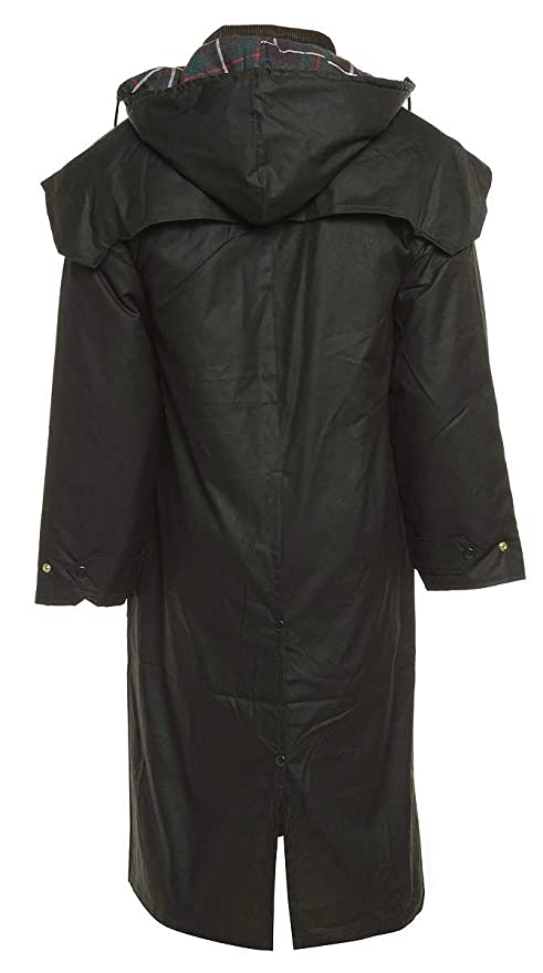 Heavy Weather Olive Wax long Stockman Cape Coat// Jacket Outdoor Country Wear