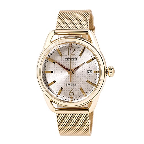 Citizen Eco Drive Gold Tone Stainless FE6083 72A