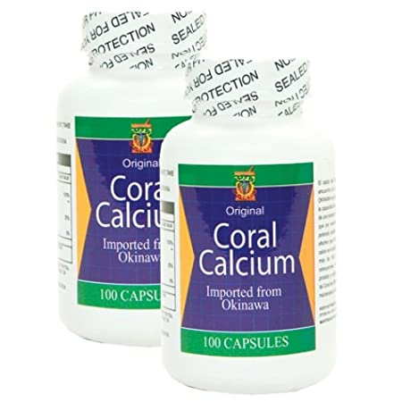Amazon.com: Calcio de Coral de Okinawa. Importado de Japon. Set de 2 frascos con 100 capsulas cada uno. Combate: Cansancio, dolor de huesos, insomnio, ...
