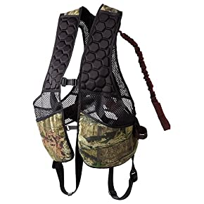 Safety Vest, Gorilla Gear G-TAC Ghost Mossy Oak Break Up Infinity Camo Colored Hunter Safety Vest designed to hold 140 lb to 300 lb Hunters