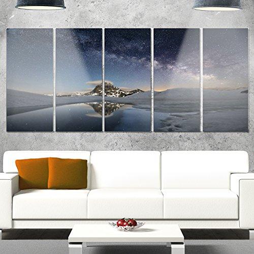 Designart MT9428-401 Dark Mountains in Spain - Landscape Photo Glossy Metal Wall Art,Blue,60x28 by Design Art