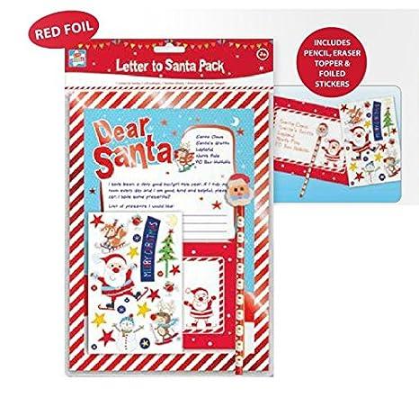 Carta a Papá Noel Pack con lápiz pegatinas y Papá Noel Forma ...