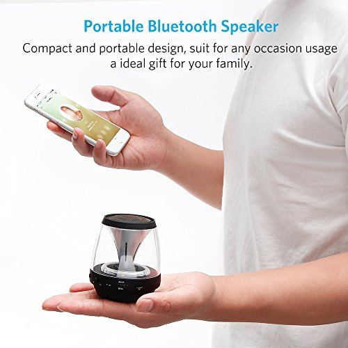 Tsumbay Vivid Sound Portable Bluetooth Speaker, Mini Speakers with Led Light and FM Radio, Wireless Sound Music Box Kid Boombox for iPhone, Samsung, iPad, PC Computer and More by Tsumbay (Image #2)