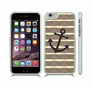 Case Cover For SamSung Galaxy Note 2 with Chevron Pattern With Shaded Beige Stripes Black Anchor Snap-on Cover, Hard Carrying Case (White)