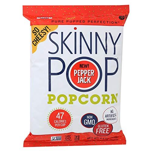 (SKINNYPOP POPCORN, Popcorn, Pepper Jack Chse, Pack of 12, Size 4.4 OZ, (Gluten Free GMO Free))
