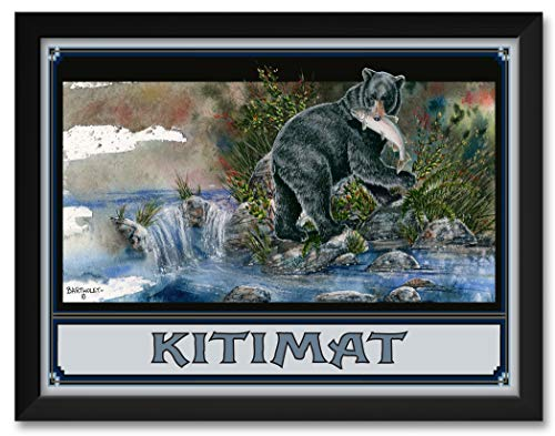 (Blackie Bear Kitimat British Columbia Canada Framed Art Print by Dave Bartholet. Print Size: 18