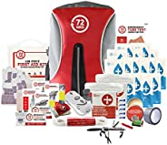 72HRS Deluxe Earthquake Preparedness Kit, Emergency Kit, Survival Kit, Disaster Kit, Hurricane Kit for 1-4 Peo