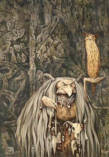 "BRIAN FROUD Limited Edition Print ""WENGWA OF THE CRYSTAL EYE"" SIGNED"
