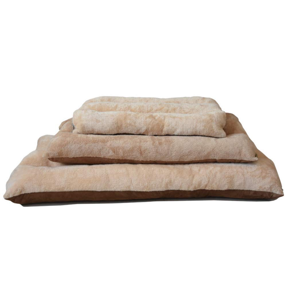 gold 125cmX80cm CZHCFF Avanzado gran lavable mascotas Mat almohadilla cojín de perro gran perrera perro gato cachorro ropa de cama nido plegable para mascotas perro la cama de tamaño a 3