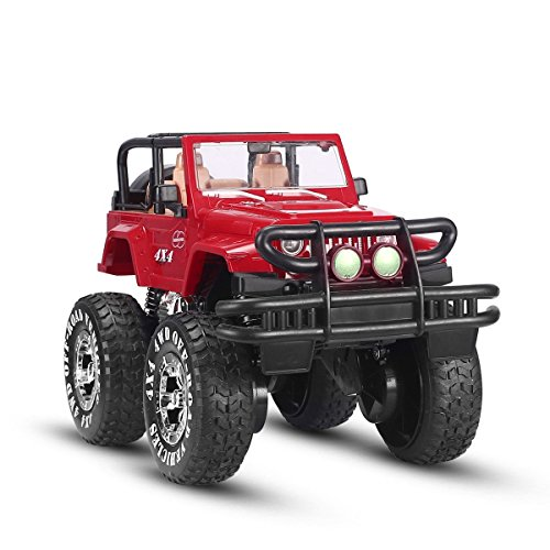 SZJJX-110-Remote-Control-Car-4WD-Shaft-Drive-Truck-Large-Four-wheel-Drive-Remote-Super-Off-road-racing-Toy-Radio-Controlled-rc-Chargeable-Off-road-Rock-CrawlerJJX-601-Vehicle-Red