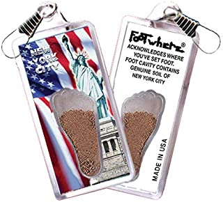 product image for New York City FootWhere Souvenir Zipper-Pull. Made in USA (NYC304 - Lady Liberty)