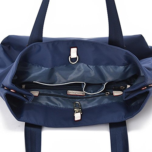 45cmx23cmx38cm de manera paño señora impermeable messenger tamaño simple bandolera la oxford Penao Blue solo Bolso Oqw5ZRxwS