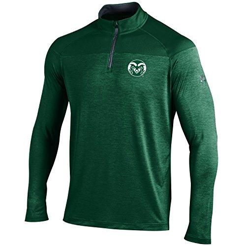 (Under Armour NCAA Colorado State Rams Men's Tech 1/4 Zip Tee, XX-Large, Dark Green)