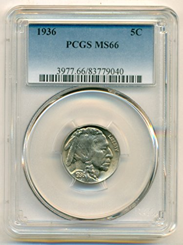 1936 Buffalo Nickel MS66 PCGS