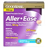 GoodSense Aller-Ease Fexofenadine Hydrochloride Tablets, 180 mg/Antihistamine, 30-count