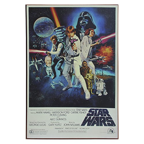 (Silver Buffalo SW4636 Disney Star Wars Episode 4 Poster Wood Wall Art, 13 x 19 inches)