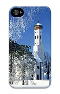 Case For Ipod Touch 5 Cover luxury Winter Church 3D Case For Ipod Touch 5 Cover