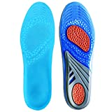 QUINONE GEL Insoles ;Sports Comfort Cuttable Insoles for Shock Absorption and buffer, Heel Protection and Foot Arch Support, Relieve Foot Pain and Fasciitis Unisex-adult inserts