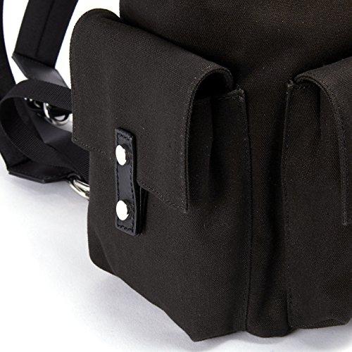 Dsquared2 Nylon Rucksack Herren Tasche Laptop Schulrucksack icon Schwarz