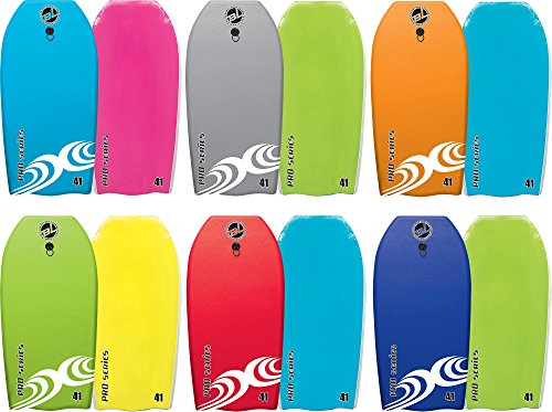 Body Boards - #1 Professional Series Hard Slick Bottom Bodyboard & Leash - Best New 2018 Wave Pro Heat Sealed BLZ Legendary Lucky Body Boards - 3 Styles 6 Colors 4 Sizes