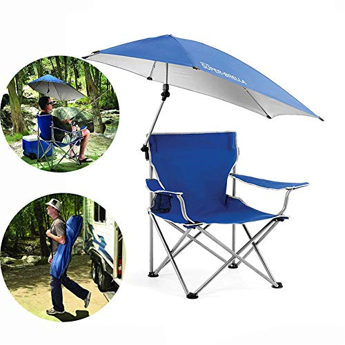 Outdoor Fishing Folding Chair, With Sunshade Canopy Umbrella And Cup Holder, Oxford Seat Fabric, Waterproof Comfortable…