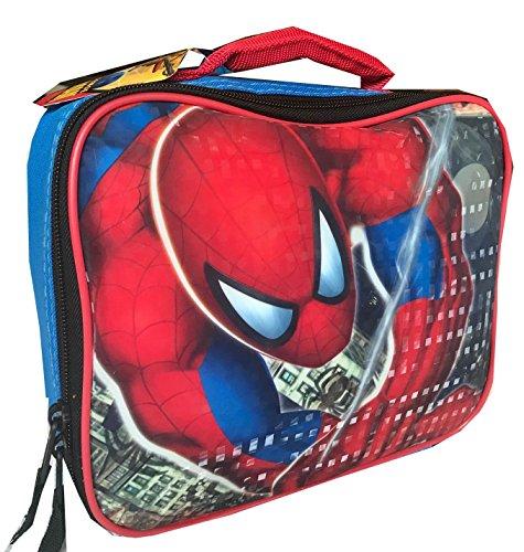 (Marvel Spider-Sense Spiderman Insulated Lunchbox Lunch Bag Tote Rectangular)