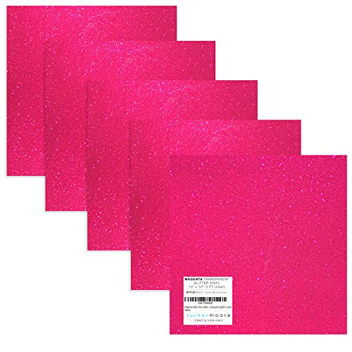 Turner Moore Edition, Magenta Glitter Vinyl Adhesive - 12
