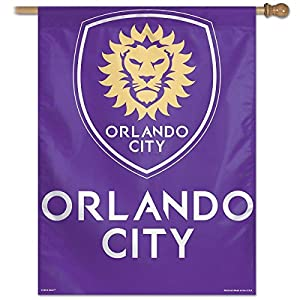 "SOCCER Orlando City SC Vertical Flag, 27"" x 37"""