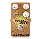 Caline Electric Guitar Pedals Acoustic Simulator Guitar Pedals AC Vintage Guitar Effects Pedal True Bypass Golden Halo CP-35 Christmas Gifts