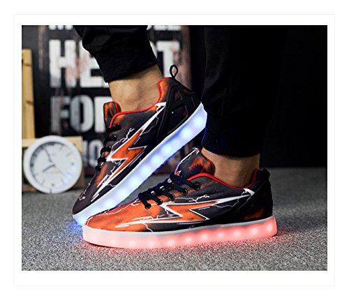 BININBOX Lovers Unisex Fashion LED 7 Colors Lights Shoes Flashing Sneaker Black JKf9oJ