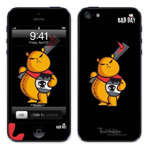 Diabloskinz B0081-0066-0010 Vinyl Skin für Apple iPhone 5/5S Good Bear