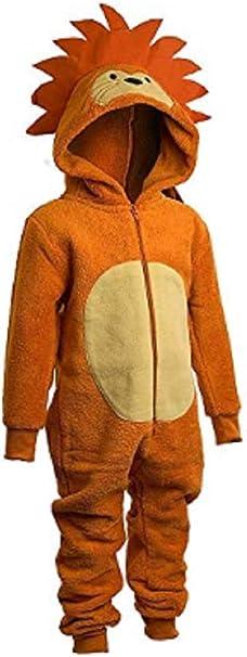 Onesies Animal Crazy Boys Supersoft Fleece Fox Jumpsuit Playsuit