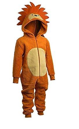 014ca4d55401 Animal Crazy Boys Supersoft Fleece Lion Onesie Jumpsuit Playsuit ...